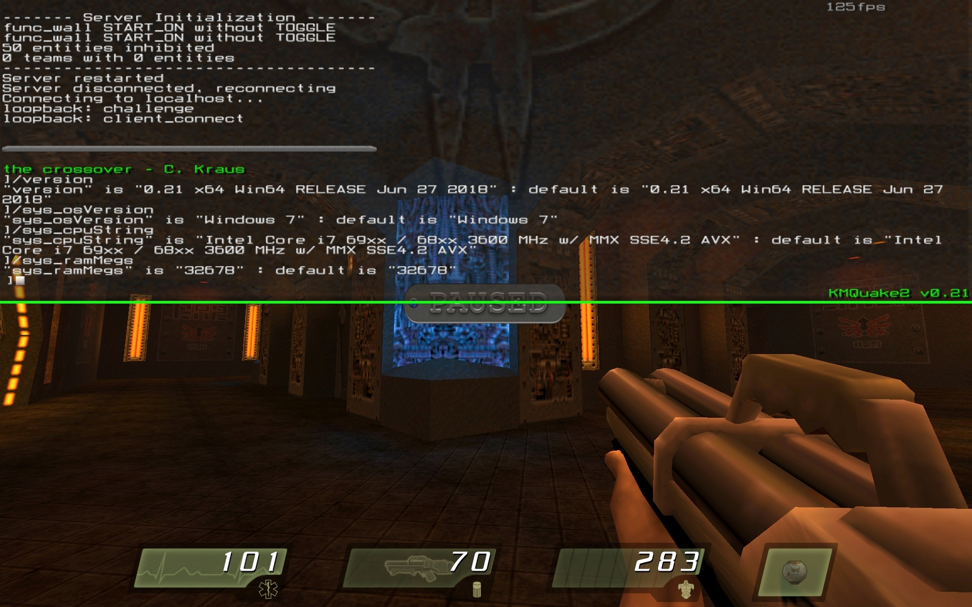 KMQuake2 x64 test screenshot